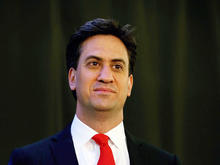 Labour Party leader Ed Miliband pictured after winning his Constituency Declaration in the 2015 general election at Doncaster Racecourse