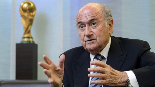 FIFA President Sepp Blatter gestures during an interview May 15, 2015, at the organization's headquarters in Zurich.