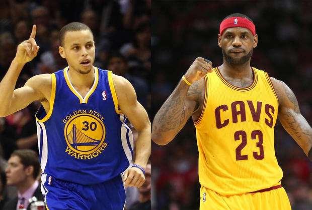 9a3c93d12c5 Stephen Curry   LeBron James - MVP vs MVP  Lebron James and Stephen Curry  duke it out in the NBA Finals - Pictures - CBS News