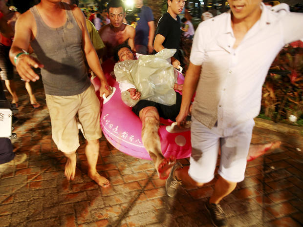 Hundreds hurt in fire at Taiwan water park