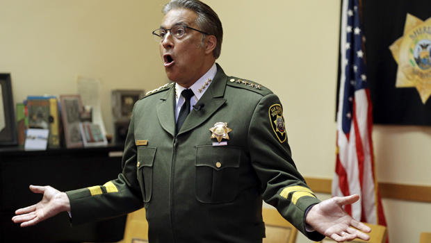 San Francisco Sheriff Ross Mirkarimi gestures during an interview July 6, 2015, in San Francisco.