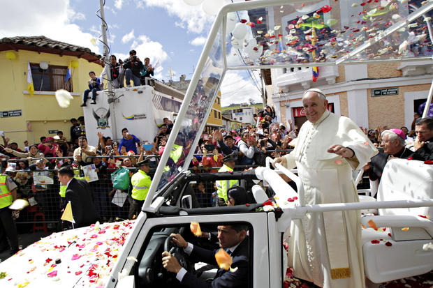Pope preaches to faithful in Latin America