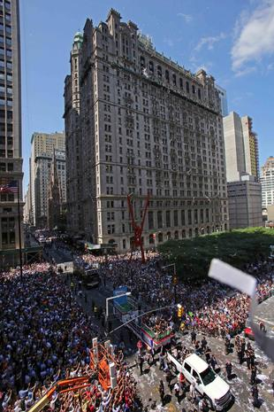 "Team USA parades NYC's ""Canyon of Heroes"""