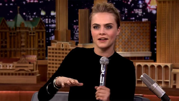 delevingne impresses jimmy fallon   awesome beatboxing skills cbs news