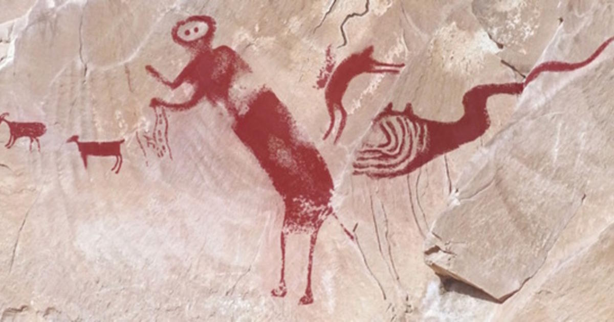 utahs ancient quotwinged monsterquot rock art deciphered cbs news