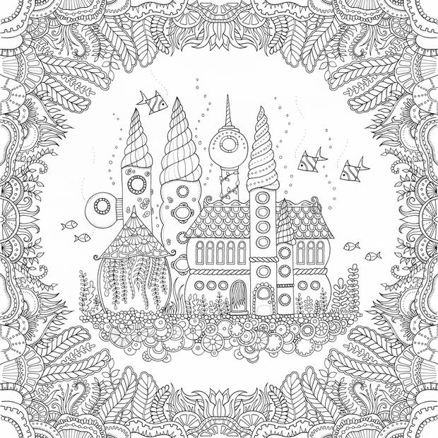 Adult coloring books by Johanna Basford are among the