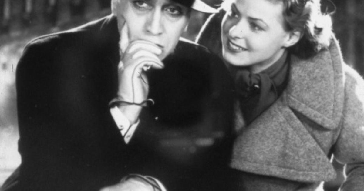 """Ingrid Bergman and Gösta Ekman in the scene ofrom the movie /""""Intermezzo/"""". Sr"""