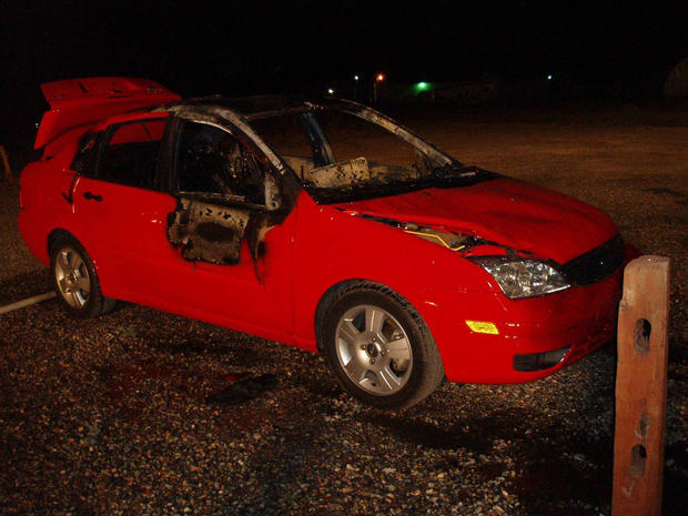 Paige Birgfeld's burned car is found days after she went missing.