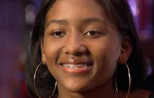 """Teen in braces sings tender song to """"Daddy"""""""