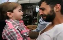 Syrian father reunites with son he thought was killed in chemical attack