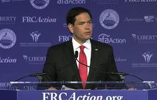 Marco Rubio draws applause announcing John Boehner's resignation