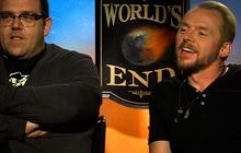 """Simon Pegg, Nick Frost have a pint at """"The World's End"""""""