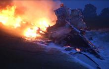 Cargo plane down in Birmingham, Ala. - RAW VIDEO