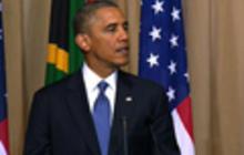 President Obama visits Mandela family