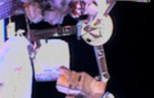 Raw video: Astronauts spacewalk