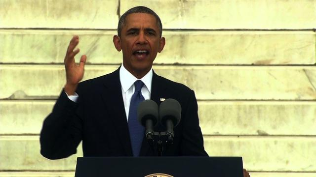 """The fierce urgency of now remains,"" Obama says"