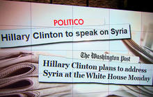 Hillary Clinton supports military action in Syria