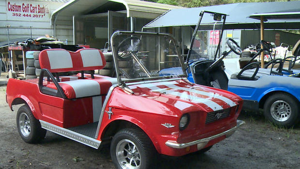 d71028d7c73 Are Golf Carts The Future Of Electric Vehicles Cbs Newsrhcbsnews  Mustang Golf  Cart Body For