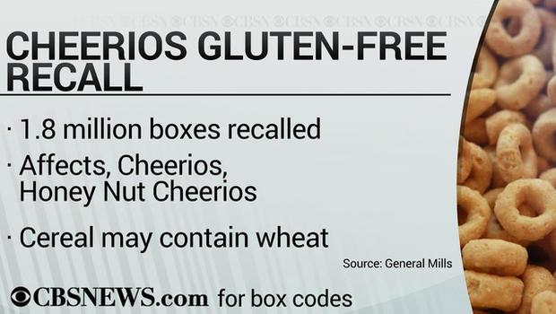 Cheerios recalled due to allergy risk