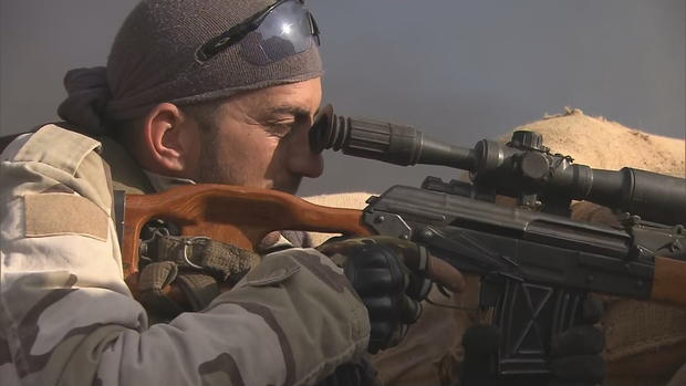 Peshmerga fighters of Iraq