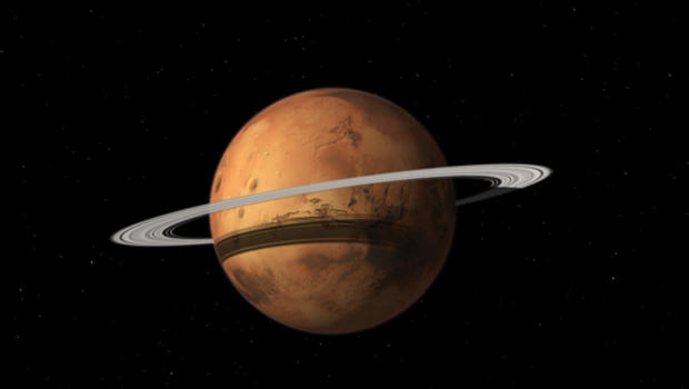 mars may become a ringed planet someday cbs news