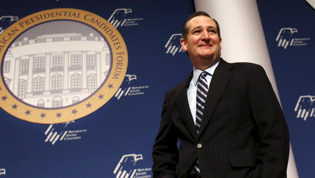 Republican presidential candidate Sen. Ted Cruz, R-Texas, arrives at the Republican Jewish Coalition's Presidential Forum in Washington Dec. 3, 2015.