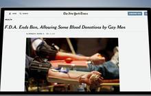 FDA eases blood donation ban on gay men