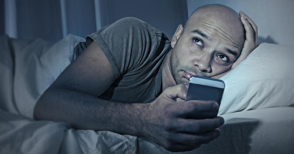 Image result for man struggles to sleep with phone
