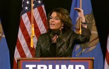 Palin tours with Trump as Cruz faces criticism