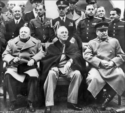 Stalin Fdr Churchill At Yalta Today In History February 4 A