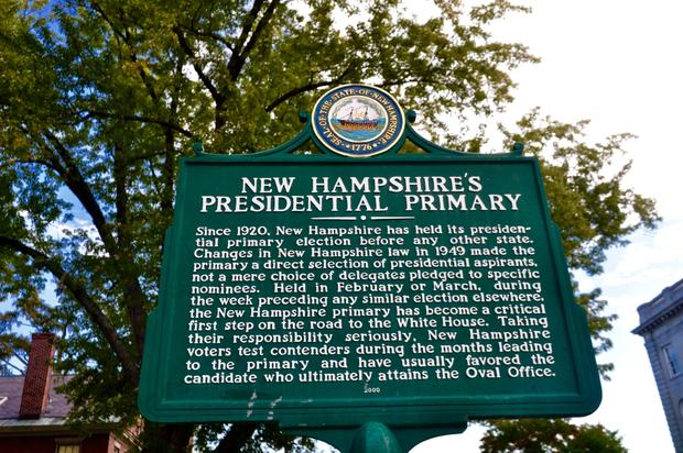 On the primary trail in New Hampshire