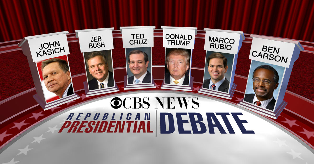 How to watch the CBS News Republican debate - CBS News