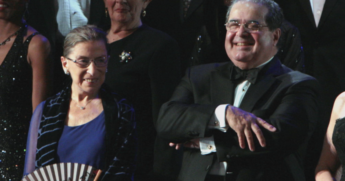 Opposites attract: A look inside the unlikely friendship of Scalia and  Ginsburg - CBS News
