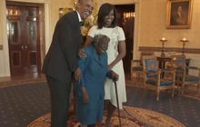 Watch: 106-year-old woman's priceless reaction to meeting the Obamas