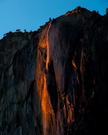 "Yosemite's spectacular ""firefall"""