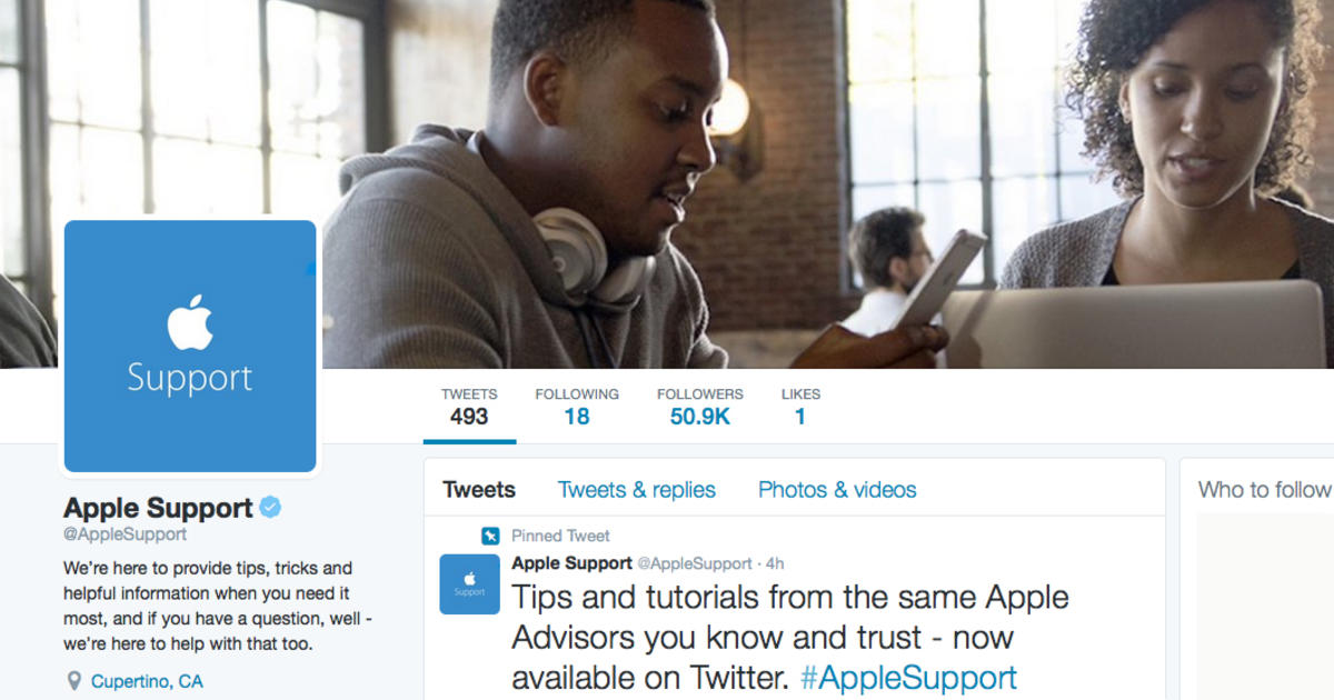 Apple launches Twitter account for customer service