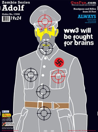 image relating to Funny Printable Shooting Targets called Lifeless Nazis - Zombies, Nazis and Jar Jar Binks: Novelty