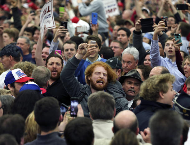 Unrest at Trump rallies (GRAPHIC IMAGES)
