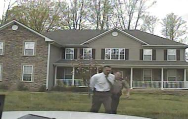Dash cam captures response to shooting at FBI agent's home