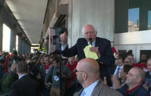 Bernie Sanders joins Verizon employees on strike