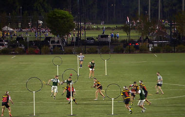 The game of Quidditch takes flight