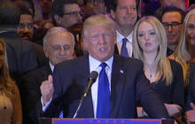 Donald Trump gives victory speech in New York