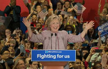 Hillary Clinton gives victory speech in New York
