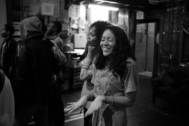 "Backstage at the Broadway musical ""Shuffle Along"""