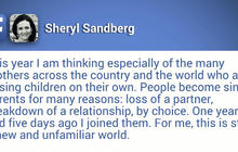 Facebook's Sheryl Sandberg reflects on Mother's Day as single mom after husband's death