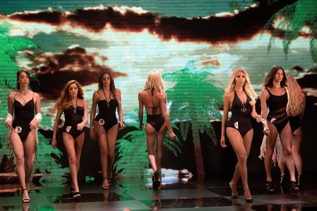 Contestants compete in Miss Trans Israel pageant