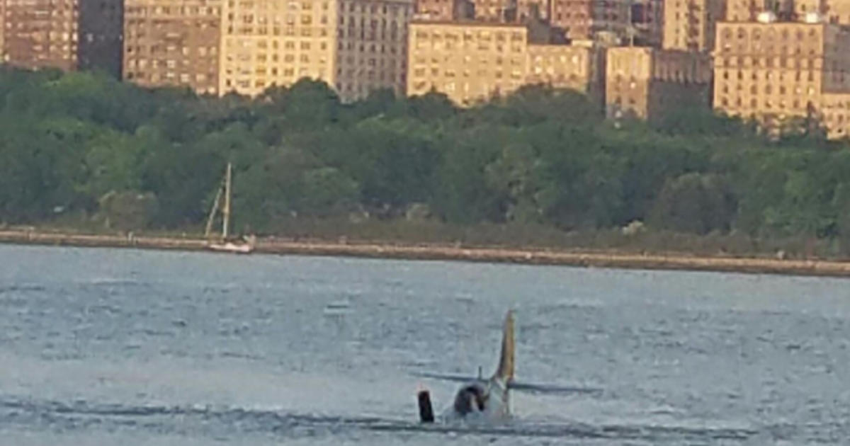 Vintage Plane Crashes In Hudson River CBS News