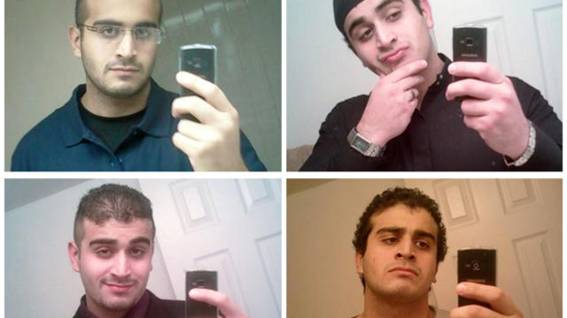 ​A combination of undated photos from his social media account show Omar Mateen, who Orlando Police have identified as the suspect in the mass shooting at the Pulse nightclub in Orlando, Florida.
