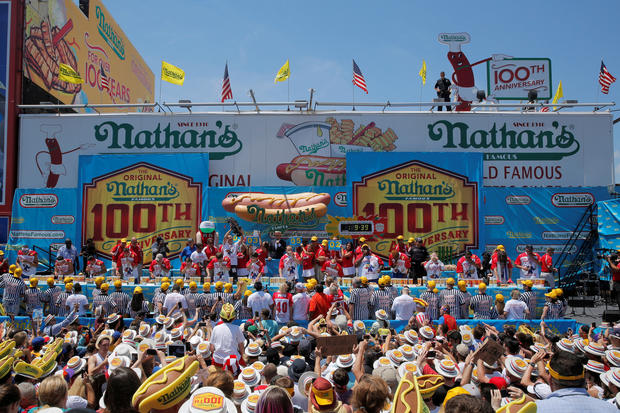 "Joey ""Jaws"" Chestnut sets record in Nathan's Hot Dog Eating Contest"