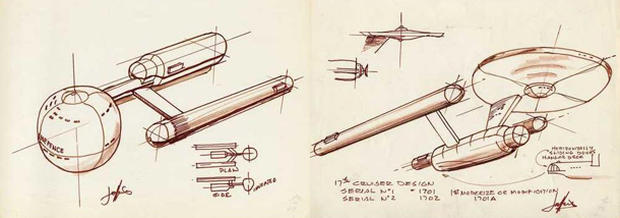 Concept Art Evolution Of The Starship Enterprise Pictures Cbs News